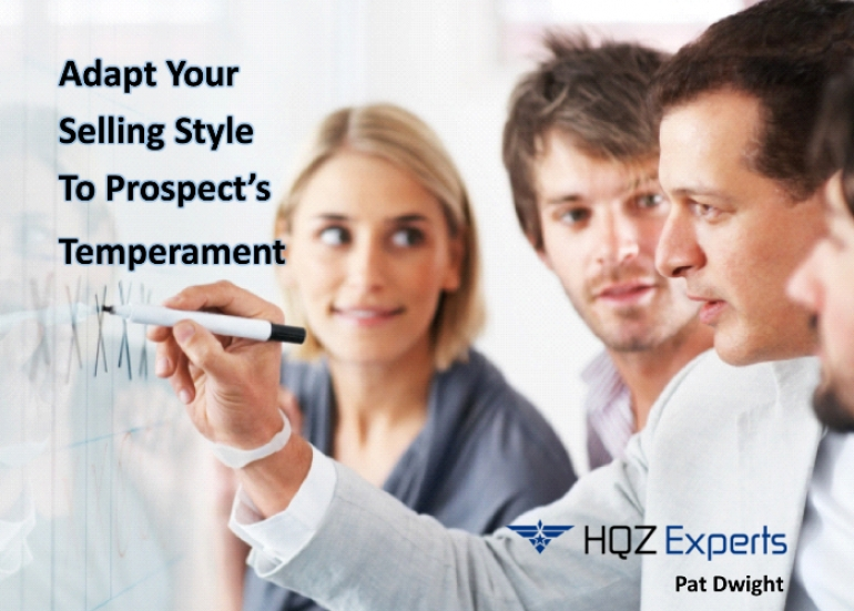 Adapt Your Selling Style To Prospect's Temperament
